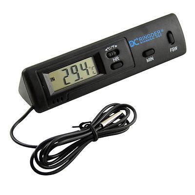Lcd Digital Thermometer Car Auto Temperature Meter Temp Test Clock Probe Sensor