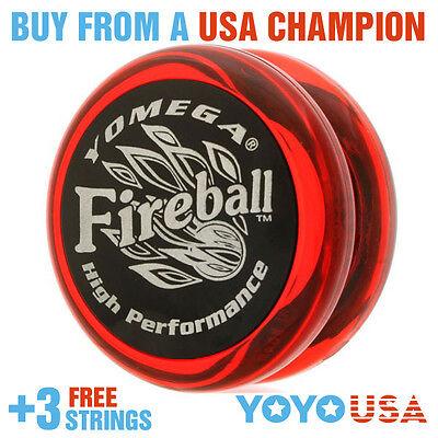 [SPRING SALE] Yomega Fireball Yo-Yo Red / Black Cap + FREE STRINGS