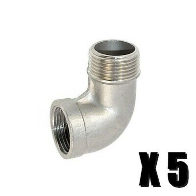 Street Elbow 12 Npt - Stainless - 5 Pack