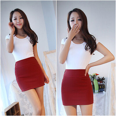Women Sexy Mini Skirt Slim Seamless Stretch Tight Short Pencil ...