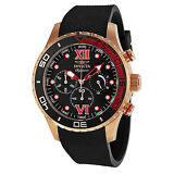 Invicta Signature II Chronograh Black Dial Black Polyurethane Mens Watch 7504