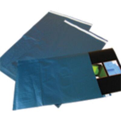 500x Blue Metallic Mailing Bags 8.5x14