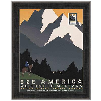 USPS New WPA - See America Framed Art