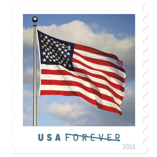 USPS New US Flag Coil of 100