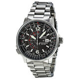 "Citizen Men's BJ7000-52E ""Nighthawk"" Stainless Steel Eco-Drive Watch"