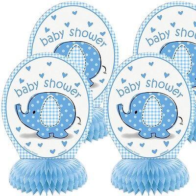 Wabendeko, blau, 4 Stück (Blaues Baby-elefant)