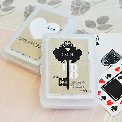 50 Personalized Vintage Themed Playing CARDS Birthday Bridal Wedding Favor](Personalized Playing Cards Wedding Favors)