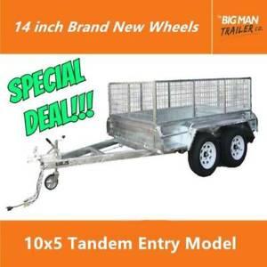 10X5 Galvanised Tandem Trailer 2000kg ATM Slipper Entry Model Carrum Downs Frankston Area Preview