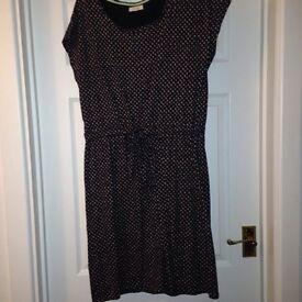 Linea navy patterned dress