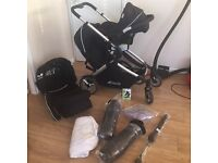 Hauck duett pushchair with car seat