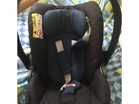 Cybex baby car seat (platinum) & isofix base