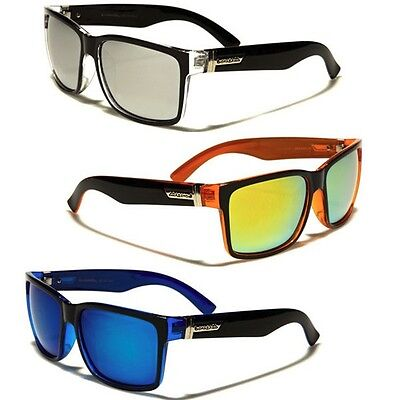 Biohazard Square Mirror Lens Men Women Retro Fashion Sunglasses Discount - Mirror Lens Sunglasses