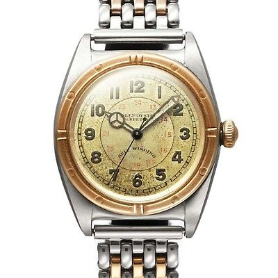 Free Shipping Pre-owned ROLEX Vintage Bubble Back 3133 Champagne Automatic Roll