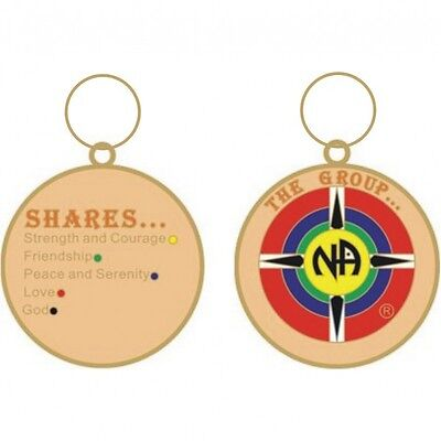 Narcotics Anonymous Recovery Keychains The Group Shares Key Tag Gold 1 1 2