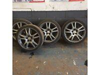 "Subaru Impreza wheels and 3 good tyres 17"""