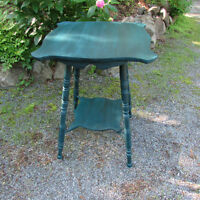 Repainted Antique Parlor/Lamp Table