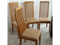 BEAUTIFUL SOLID OAK DINING CHAIRS