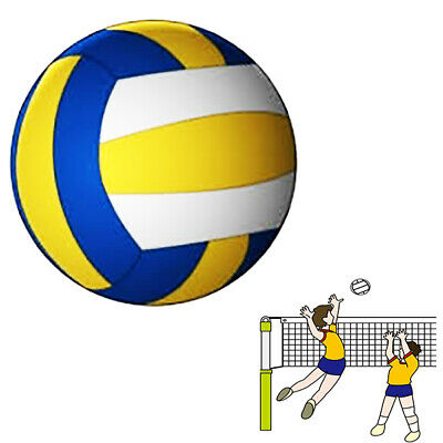 Pallone Da Pallavolo Volley Ball Palla Beach Volleyball Giallo Blu Bianco 115