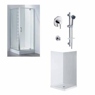 Swing door shower screen+Shower Base+Wall liner+Taps Moorabbin Kingston Area Preview