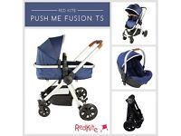 BRAND NEW RedKite Push Me Fusion Travel System (Navy) RRP £320