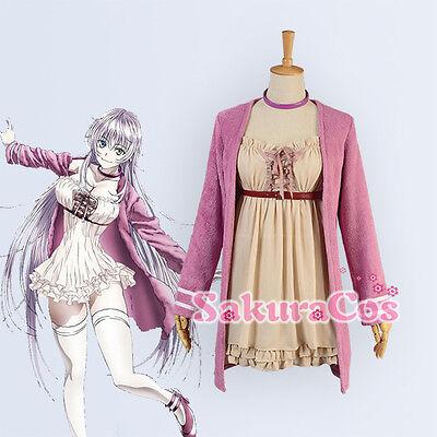 RETURN OF KINGS K Anime II Neko Cat Cosplay Costume Pink Coat Brown (K Neko Kostüm)