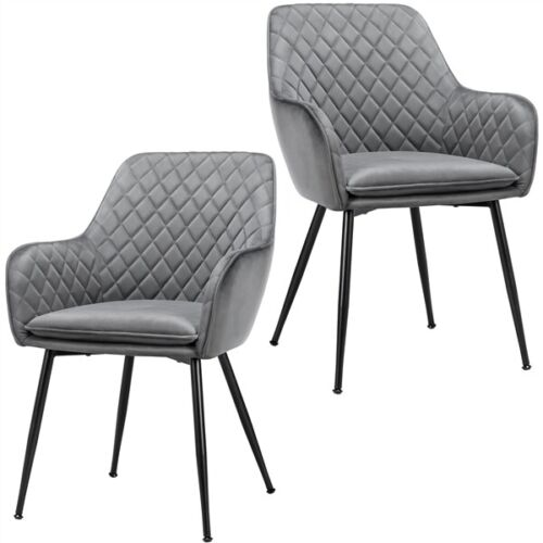 2pcs Kitchen Dining Chairs Mid Century Accent Chairs Reception Room Chair