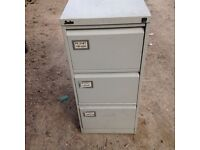 3 draw filing cabinet in grey. Delivery.
