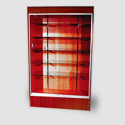 "Trophy Case, Glass Display Case, 48"" Long x 78"" Tall Walnut, #WC4WAL"