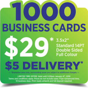 1000 Business Cards for $29!