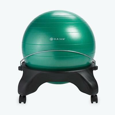 Gaiam Classic Backless Balance Ball Chair Exercise Stability Yoga Ball - Green