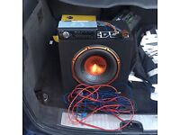 Subwoofer with radio and all wiring £40ono