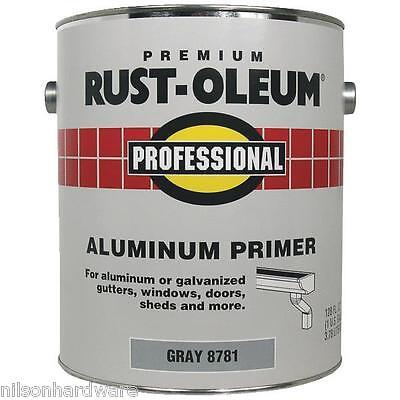 2 Qt Gray RustOleum Stops Rust 250 VOC Flat Latex Aluminum P