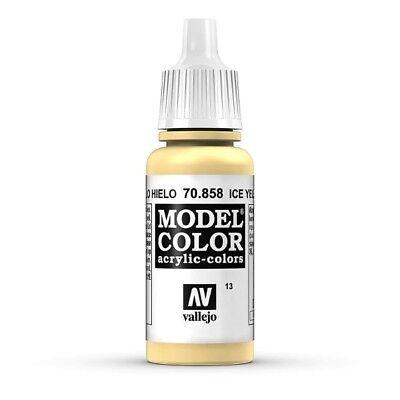 Model Color 70.858 Eisgelb - Ice Yellow Vallejo 17ml Acrylfarbe