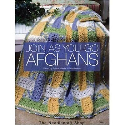 JOIN-AS-YOU-GO AFGHANS Kathy Wesley and Bobbie Matela BRAND NEW HARDCOVER BOOK