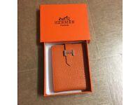 Hermes wallet orange