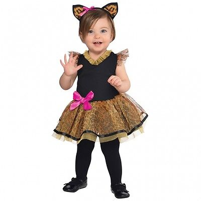 süsses Katzen Leopard Kostüm Gr. 80 86 Kinder Karneval Mädchen Halloween - Süßes Mädchen Kostüm