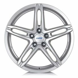 """4 18"""" Alutec Poison alloy wheels: 8.0J x 18 offset 35mm. As new - only on car for 40miles."""