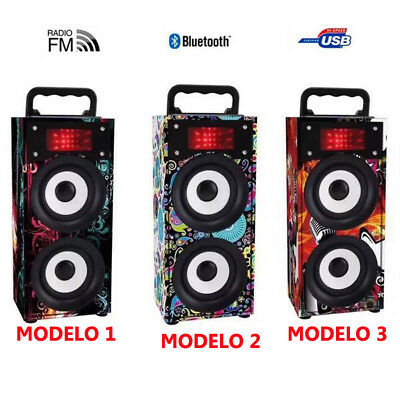ALTAVOZ MINI INALÁMBRICO CON RADIO FM TARJETA TF USB LUCES LED RESISTENTE