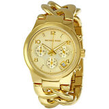 Michael Kors Runway Twist Chronograph Gold-tone Ladies Watch
