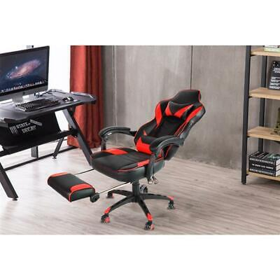 Ergonomic Gaming Chair with Footrest Reclining Home