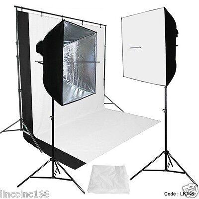 DSLR Camera Digital Photography Video Studio Photo Lighting Background Stand Kit Digital Photo Lighting Kit