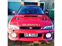 Subaru Impreza turbo red big spec 330 bhp