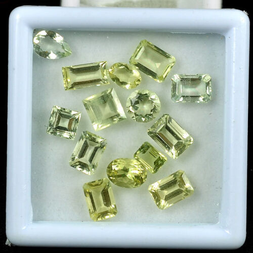 VVS 12 Cts/14 Pcs 100% Natural Top Quality Untreated Aquamarine Faceted Cut Gems