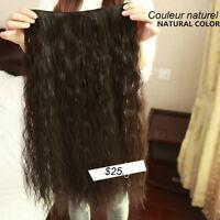 """Rallonge a CLIP,Extension de cheveux 5 clip,FRISÉ NATUREL.24"""""""