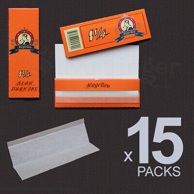 ROLLING PAPERS 15 PACKS 1.25 1¼ 77x45 mm 32 Leaves Cigarette Paper THEY ROCK!
