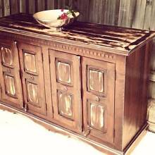 Upcycled Sideboard TV Entertainment Unit Distressed Hardwood Timb Coogee Eastern Suburbs Preview