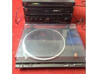 Technics stack system amp turntable cd tuner hifi