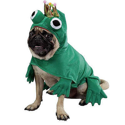 Easy Halloween Dog Costumes (Zack & Zoey PRINCE OF FROGS Green Plush Easy-On/Off Polyestr Halloween Big Eyes)