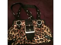 River island leopard print handbag good condition