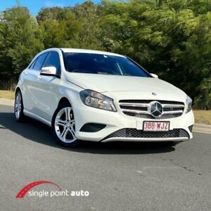2013 Mercedes-Benz A-Class W176 A180 D-CT White 7 Speed Sports Automatic Dual Clutch Hatchback Chevallum Maroochydore Area Preview